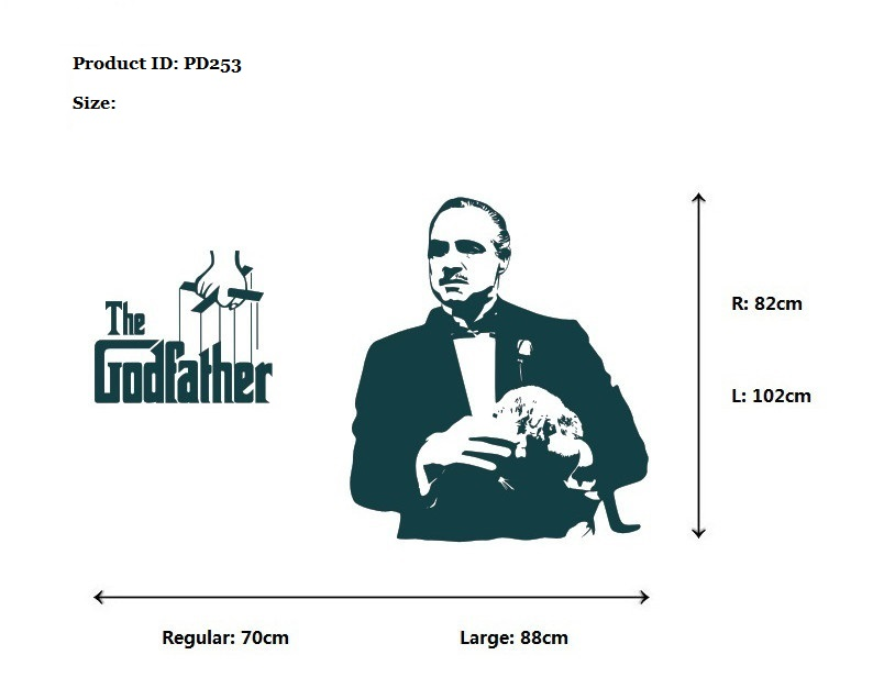 the godfather wall stickers uk, sticker for wall