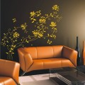 Luxury Butterfly and Flower Wall Art Sticker - PD157