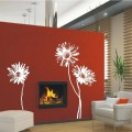 Stylish Gerbera Flower Wall Art Sticker - PD435