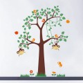 Cheeky Monkeys Swinging In A Tree Nursery Wall Art Sticker - PD268