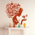Top Design Flower Girl Wall Art Sticker - PD101
