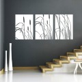 Stylish Pond Cattail Set Wall Art Sticker - PD174