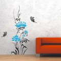 Luxury Flower and Butterfly Wall Art Sticker - PD202