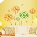 140 Large Flower Storm Wall Art Sticker - PD218
