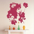 Top Design Flower Girl Wall Art Sticker - PD117