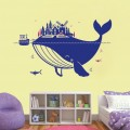 Whale Island Nursery Wall Art Sticker - PD286