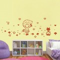 Cute Picking Up Mushrooms Nursery Wall Art Sticker - PD293