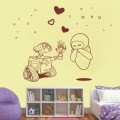 Wall-E In Love Nursery Wall Art Sticker - PD296