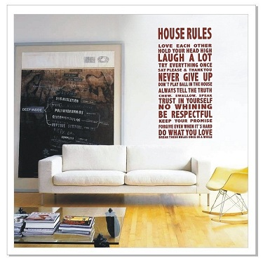 Family Love House Quote Wall Art Decor