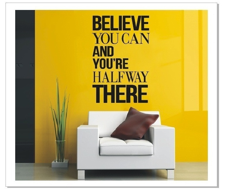 Believe You Can Quote Wall Art Decor